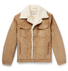 Maison Kitsuné Faux Shearling-Lined Cotton-Corduroy Jacket