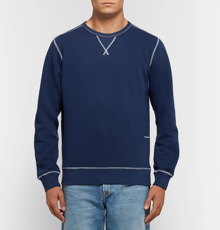 Logo Print Fleece Back Cotton Jersey Sweatshirt by Pop Trading Company