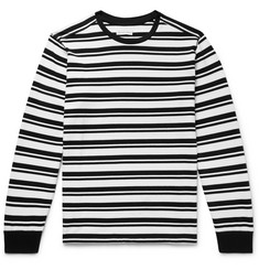 Pop Trading Company Logo-Print Striped Cotton-Jersey T-Shirt