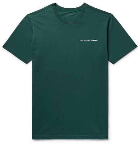 Logo-print Cotton-jersey T-shirt - Dark green