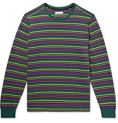 Pop Trading Company - Alpine Logo-Embroidered Striped Cotton-Jersey T-Shirt