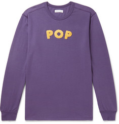 Pop Trading Company Uni Logo-Appliquéd Cotton-Jersey T-Shirt