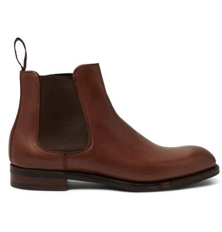 CHEANEY Godfrey Burnished-Leather Chelsea Boots