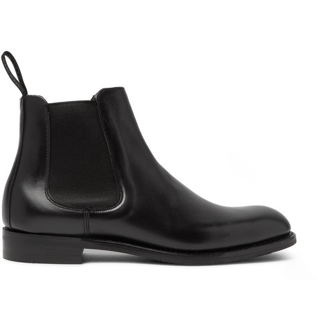 CHEANEY Godfrey Leather Chelsea Boots in Black