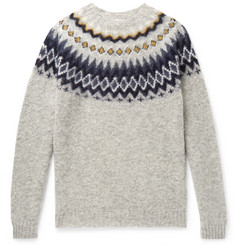 Norse Projects - Birnir Fair Isle Brushed-Wool Sweater
