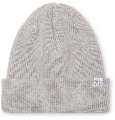 33f76dfc72895 NORSE PROJECTS Ribbed Mélange Merino Wool Beanie