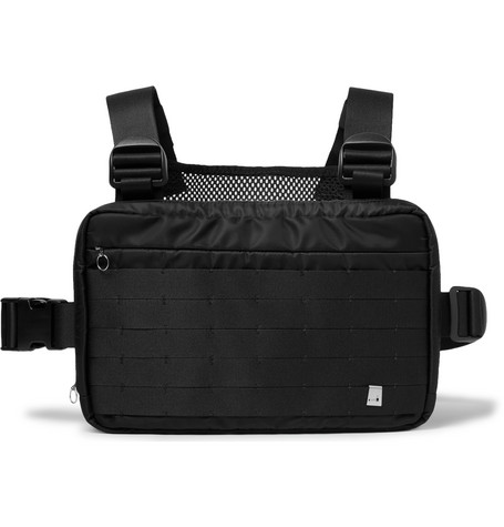 Webbing-trimmed Shell And Mesh Harness Bag