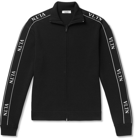 Logo Trimmed Tech Jersey Track Jacket by Valentino
