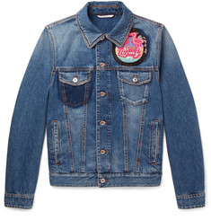Valentino - Slim-Fit Embellished Denim Jacket