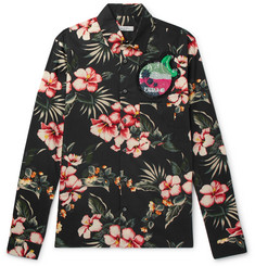 Valentino Slim-Fit Embellished Printed Cotton Shirt