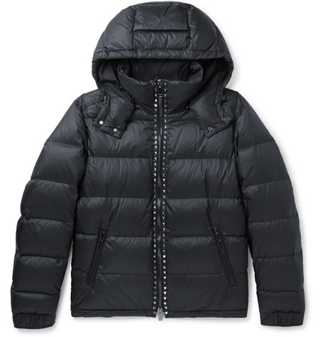 Rockstud Quilted Shell Hooded Down Jacket