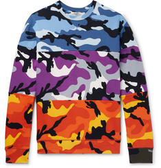 Valentino Camouflage-Print Loopback Cotton-Blend Jersey Sweatshirt