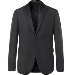 Valentino Black Slim-Fit Embellished Mohair and Virgin Wool-Blend Tuxedo Jacket