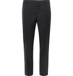 Valentino Black Slim-Fit Embellished Mohair and Virgin Wool-Blend Tuxedo Trousers