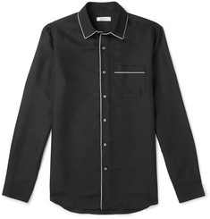 Valentino Piped Silk Shirt