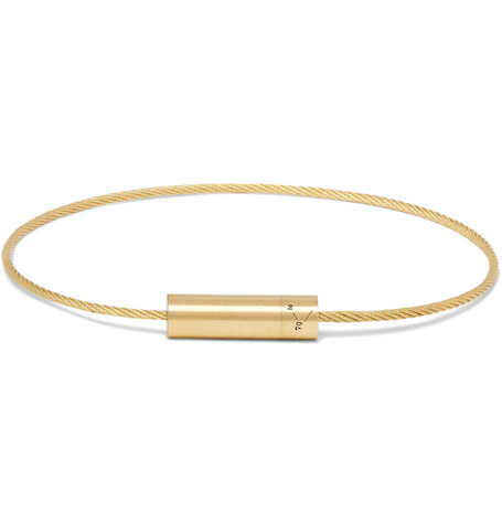 Le Câble 7 Brushed 18-karat Gold Bracelet