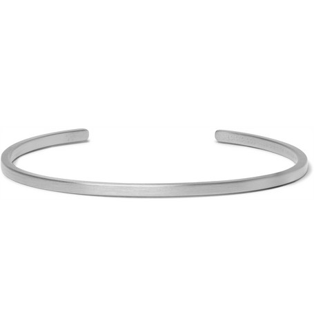 Le Gramme Le 7 Brushed Ruthenium-plated Sterling Silver Cuff - Silver rhxM8l