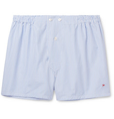 Isaia - Striped Cotton Boxer Shorts