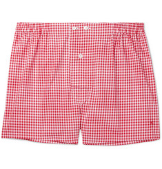 Isaia - Gingham Cotton Boxer Shorts