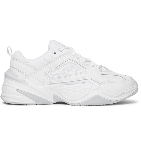 M2 K Tekno Leather, Nylon And Mesh Sneakers by Nike