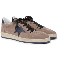Golden Goose Deluxe Brand - Ball Star Distressed Suede and Leather Sneakers