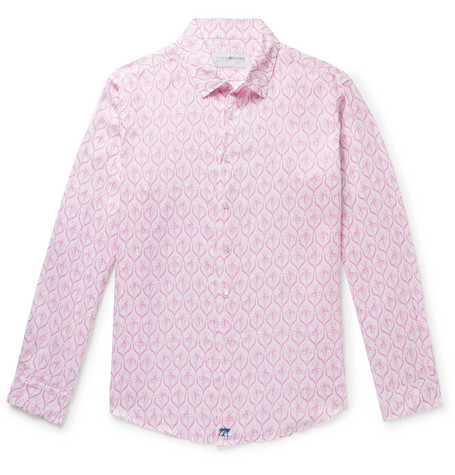 PINK HOUSE MUSTIQUE Printed Linen Shirt - Pink