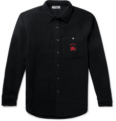 Burberry Fairfield Logo-Embroidered Wool and Cashmere-Blend Fleece Overshirt