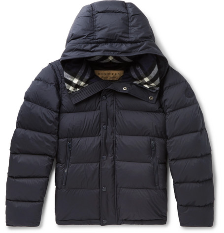 Burberry – Quilted Shell Hooded Down Jacket – Navy