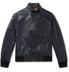 Burberry Leather Blouson Jacket
