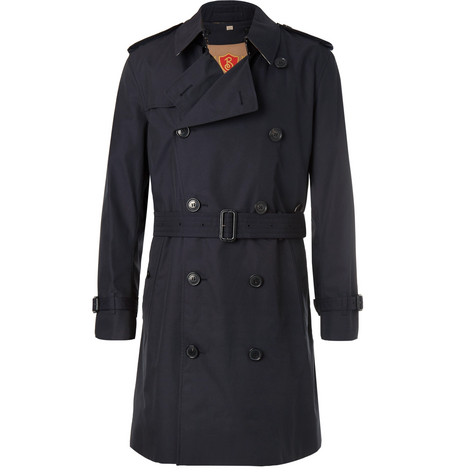 Kensington Double Breasted Cotton Gabardine Trench Coat With Detachable Gilet by Burberry
