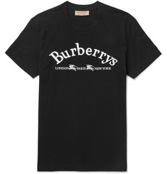 Burberry Slim-Fit Logo-Embroidered Cotton-Jersey T-Shirt 0c66f62780a
