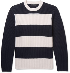 Joseph - Striped Ribbed Cashmere Sweater