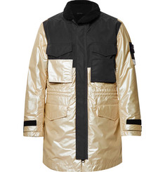 Stone Island Two-Tone Iridescent Tela Jacket with Fleece-Back Nylon Liner