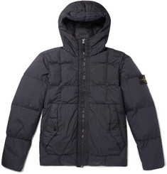 Stone Island - Garment-Dyed Quilted Nylon Hooded Down Jacket