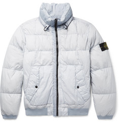 Stone Island - Garment-Dyed Quilted Nylon Down Jacket