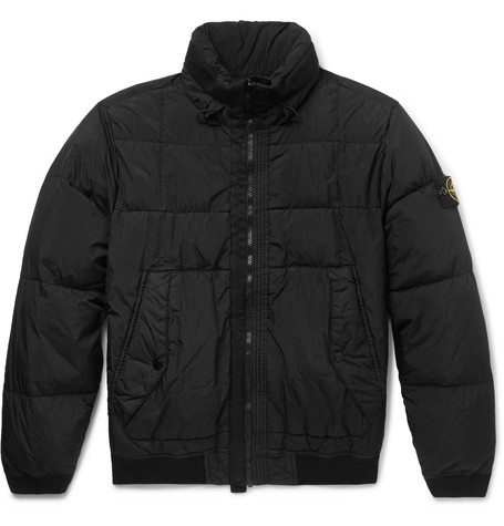 Slim Fit Garment Dyed Quilted Nylon Down Jacket by Stone Island