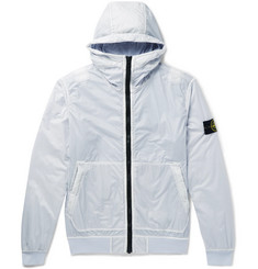 Stone Island Garment-Dyed Lamy Flock Nylon Hooded Jacket