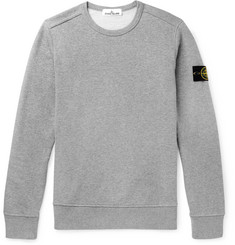 Stone Island - Mélange Fleece-Back Cotton-Jersey Sweatshirt