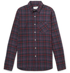 Oliver Spencer - New York Special Checked Cotton-Blend Flannel Shirt
