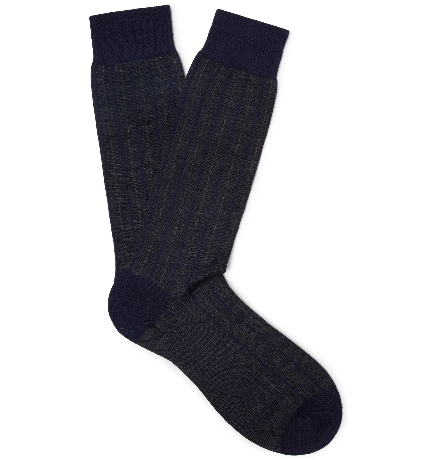 Fitzroy Striped Wool-blend Socks Pantherella Quality Free Shipping For Sale Cheap Best Wholesale Factory Outlet Cheap Online 4hozrZ