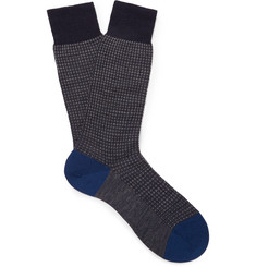 Pantherella Hatherley Puppytooth Merino Wool-Blend Socks