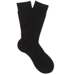 Pantherella Dallington Pin-Dot Merino Wool-Blend Socks