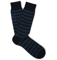 Pantherella Stanway Striped Merino Wool-Blend Socks