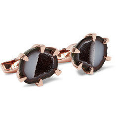 TATEOSSIAN - Rose Gold-Plated Geode Cufflinks