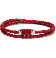 TATEOSSIAN - Montecarlo Woven Leather and Sterling Silver Bracelet