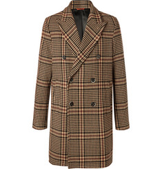 Barena Double-Breasted Prince of Wales Checked Virgin Wool-Blend Coat