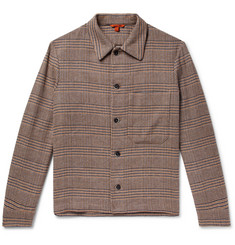 Barena - Checked Linen-Blend Shirt Jacket