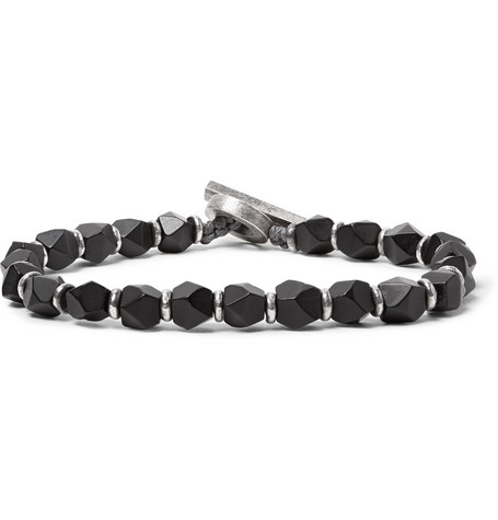 M.COHEN ONYX AND STERLING SILVER BRACELET
