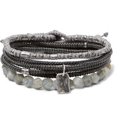 M.Cohen The Create Stack II Sterling Silver and Labradorite Bracelet Set