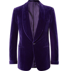 73fb67cc7 Ralph Lauren Purple Label Purple Gregory Slim-Fit Shawl-Collar  Cotton-Velvet Tuxedo